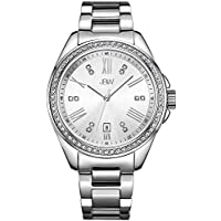 JBW Watch for Women Studded with 12 diamonds, Stainless Steel Band - J6340D