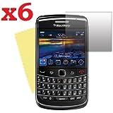 6 films écran protection LCD pour Blackberry Bold 9700