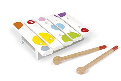 Janod - Confetti Xilófono Mini de juguete de madera (J07603)