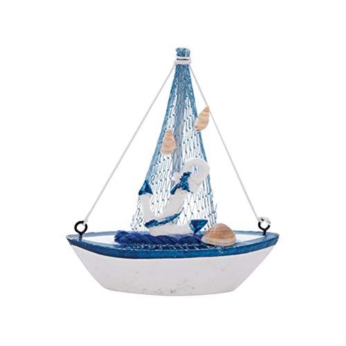 Vosarea Massivholz Segelboot Modell Segelboot Handwerk Segelschiff Mittelmeer Nautische Ornamente Dekoration 2 stücke