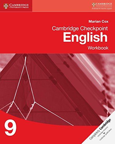 Cambridge Checkpoint English. Workbook 9 (Cambridge International Examin) por Marian Cox