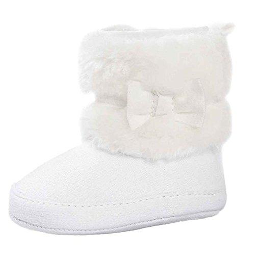 WOCACHI Baby Bowknot halten warme weiche Sole Schnee Stiefel Soft Crib Schuhe Kleinkind Stiefel (13cm, (Stiefel Piraten Kleinkind)