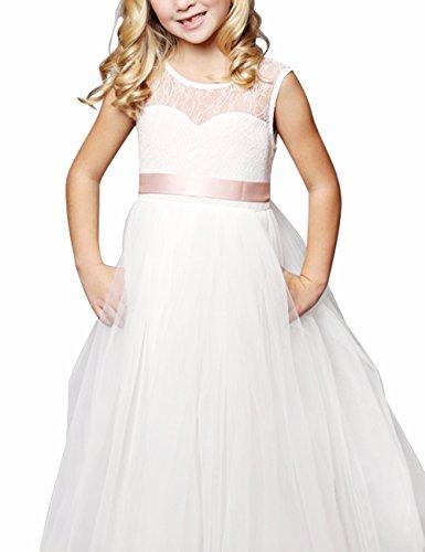 iEFiEL Festliches Mädchen Kleid Lange Brautjungfern Kleider Hochzeit Party Festzug Kleidung 92 104...