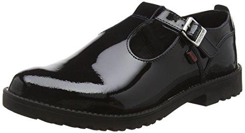 Kickers Mädchen Lachly T Youth Mary Jane Halbschuhe, Schwarz (Black), 39 EU Youth Black Patent Schuhe