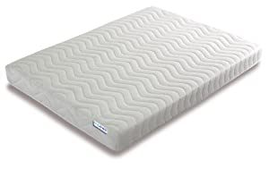 Bedzonline Memory Foam and Reflex 3 Zone Mattress with 1 Fibre Pillows Micro Quilted cool flex Cover, Single , 3 ft , 90 x 190 cm