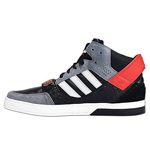 Adidas Hardcourt Defender D66078 Herren Schuhe Grau-Rot-Schwarz