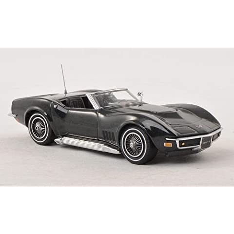 Chevrolet Corvette C3 Convertible, metallic-dark green, 1968, Model Car, Ready-made, Vitesse 1:43 by Chevrolet