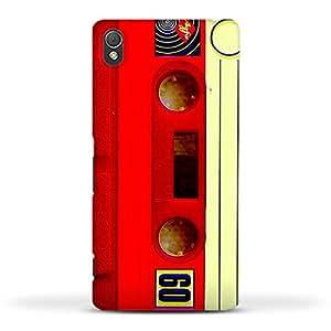 FUNKYLICIOUS Sony Xperia Z3 Back Cover Cassette Tape Bright Design (Multicolour)