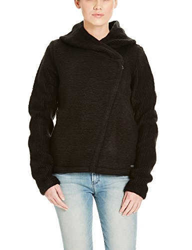 Bench Damen Strickjacke Rhetoric, Schwarz (Black BK014), Large