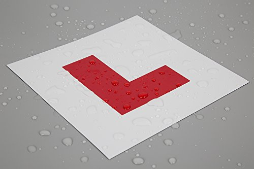 2 PACK PREMIUM QUALITY FULLY MAGNETIC LEARNER DRIVER L PLATES FOR CAR OR BIKE