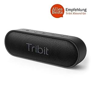 Tribit Xsound Go Bluetooth Lautsprecher IPX7 Wasserdicht,12W Kabelloser Lautsprecher mit Bass+, Tragbarer Lautsprecher 24 Stunden Spielzeit, 20M Bluetooth Reichweite--[Alles Beste Empfehlung]