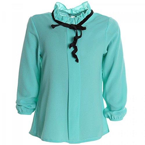 Mädchen Bluse Shirt Pullover Blusen Kleid Longsleeve Sweatshirt T-Shirt 20264 Mintgrün Größe 152