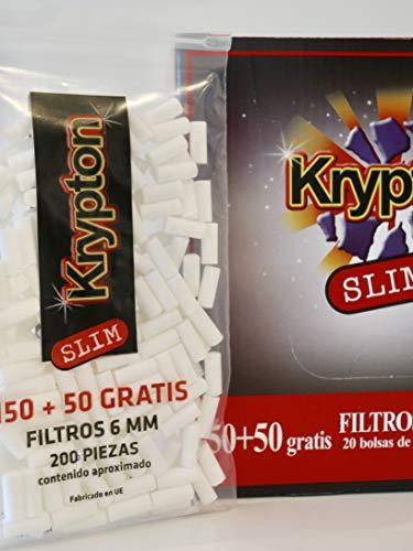 4000 Filtros Krypton 6mm slim para tabaco de entubar ...