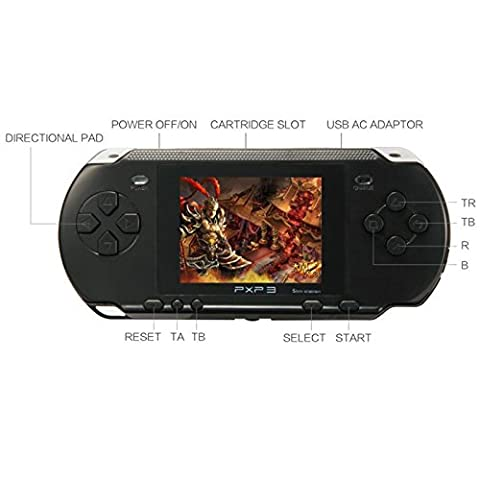 New PXP 3 Portable Video Game Player Slimstation Bundle 16 Bit Handheld Computer Games Console