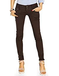 Bestyledberlin Damen Röhrenjeans, Hüftige Skinny Fit Jeans, Super Stretch Hüftjeans eng j52f