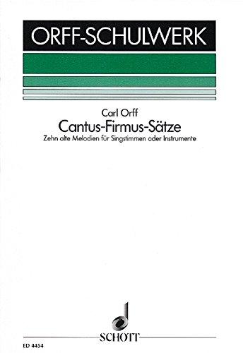 Cantus-Firmus-Satze Chant