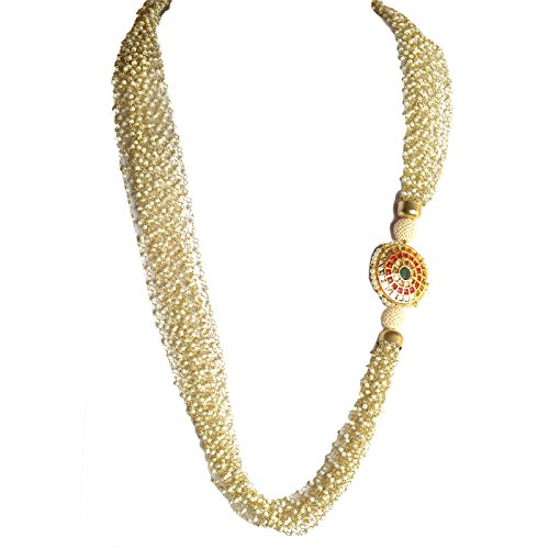 Zephyrr Jewellery Meenakari Pendant Necklace Handmade with Pearl Beads for Women