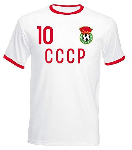 aprom CCCP Trikot UDSSR No.10 - Russland - Retro Jersey WM EM (L)
