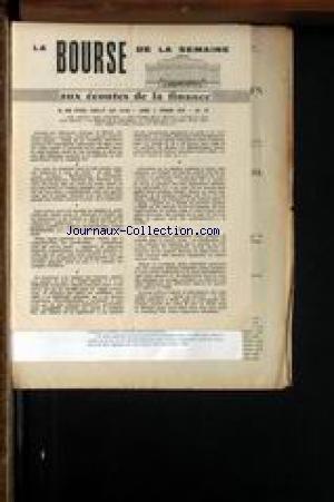 BOURSE DE LA SEMAINE AUX ECOUTES DE LA FINANCE (LA) [No 70] du 02/02/1959 -