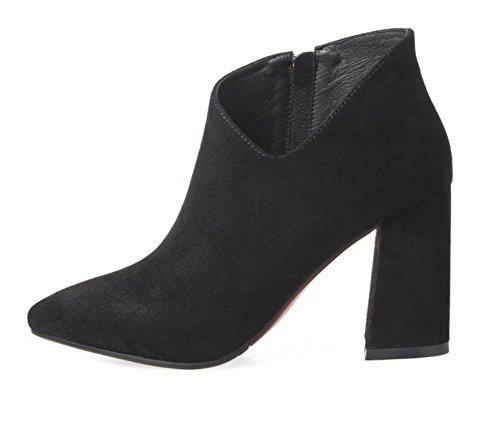 24f59d6612929 Bottes De Printemps À Talons Hauts Pour Femmes Grandes Bottes Avec Des  Chaussures Simples Ont Indiqué