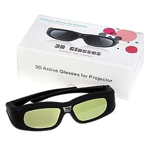 Excelvan® Lunettes 3D Active DLP-Link Projecteur Idéal pour Optama Acer BenQ NEC ViewSonic Sharp Dell - Noir