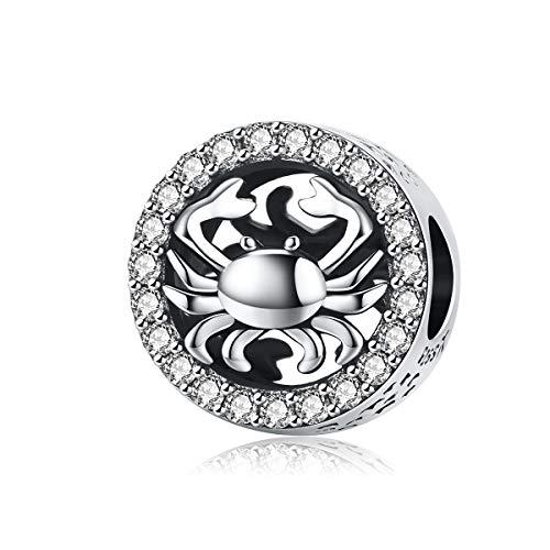 Reiko Krebs Konstellation 925 Sterling Silber Bead Charms Anhänger Für Armbänder Oder Halsketten