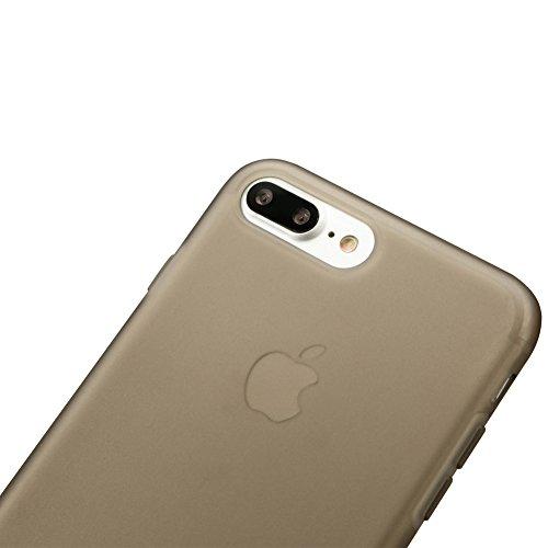 iPhone 7 Plus / iPhone 8 Plus Handyhülle, Jisoncase iPhone 7 Plus / iPhone 8 Plus TPU Transparent Tasche Case Ultra Slim Back Cover für i-Phone 7 Plus / i-Phone 8 Plus Silikon Etui in Schwarz JS-I7L-0 Grau