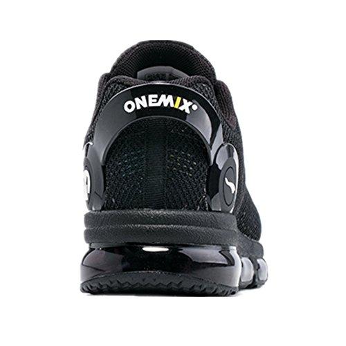 Onemix Air Herren Laufschuhe für das Training auf der Straße Sneaker Schwarz