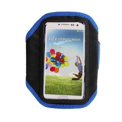 Sportarmband / Handy Armtasche in schwarz / blau für Samsung ATIV S / GT-I8750, Galaxy S3 / GT-I9300, Galaxy S3 LTE GT-I9305, Galaxy S4 / GT-I9505 / GT-I9500 / Samsung GT-I9250, BlackBerry Z10, Google Galaxy Nexus / Nexus 4 / LG E960, HTC One / M7 / 801e, One mini / M4, One X / S720e, One XL, Sensation XL / G21 / X315e, Titan / X310e / Eternity, Windows Phone 8X / Zenith, LG P880 Optimus 4X HD, P936 Optimus True HD LTE, Motorola RAZR / XT910, Nokia Lumia 920, Lumia 925, Sony Xperia ion / LT28i, Xperia Z / L36i / L36h, Xperia L / Xperia S / Arc HD / LT26i, Xperia T / LT30i / LT30p, Xperia V / LT25i für Freizeit, Sport und Joggen