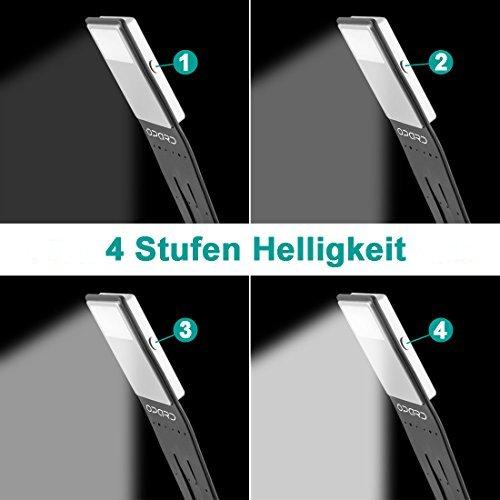 LED Klemmleuchte / Leselampe mit einstellbarer Helligkeit - 2