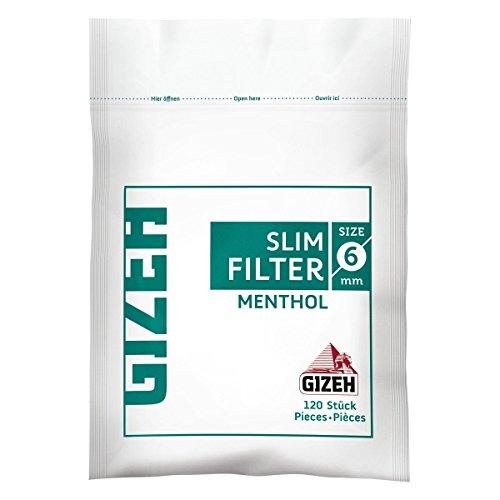 Gizeh Slim Filter 6 mm Menthol - 10 Beutel