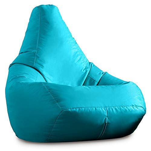 Hi-BagZ Außensitzsack mit hohem Rückenteil - Gartensitzsack Türkis - 100% Wasserabweisend