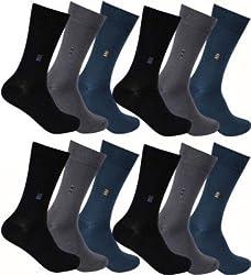 Alfa Mens Cotton MultiColor Socks - Pack of 12