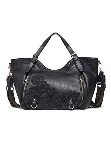 Desigual Bag Dark Amber Rotterdam Women, Borse a spalla Donna, Nero (Negro), 31 x 30 x 15.5 cm