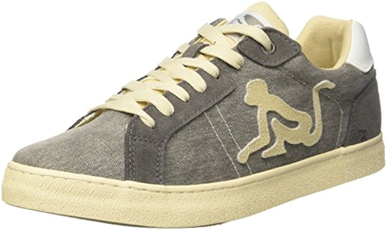 DrunknMunky Herren New England Vintage Sneaker  Gray/Cream