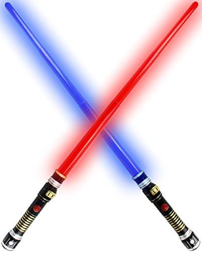 hwert Star Fantasy LASER WARS LED LICHT SOUND 95cm Lichtschwert (ROT) (Stars Wars Kostüme)