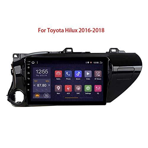 Android 8.1 Lettore Multimediale per Auto Navigazione GPS 10 Pollici Radio FM WiFi Bluetooth Vivavoce Dual USB Controllo del Volante Multi-Lingua per Toyota Hilux 2016-2018