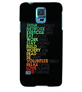 ColourCraft Quote Back Case Cover for SAMSUNG GALAXY S5