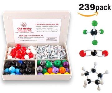 Molecular Model Kit (239Stück) Advanced Chemie Set mit Montageanleitung Guide-Chemie Struktur Kit für Chemie Lehrer, Studenten und Junge Wissenschaftler mit Atome, & Methode -
