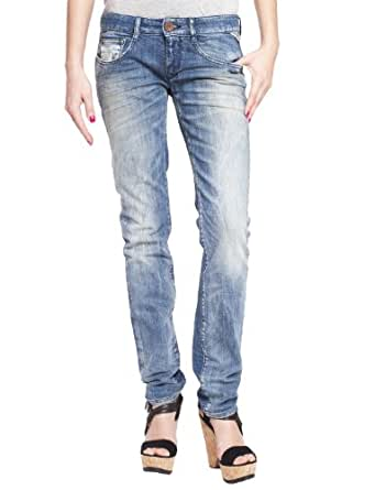 Replay Damen Jeans Niedriger Bund Radixes SkinnyFit WX640.000.345143, Gr. 25/30, Blau (blue denim)