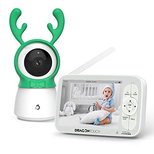 Babyphone mit Kamera, Video Baby Monitor, Dragon Touch Baby Überwachungskamera mit 5 Zoll 720P HD Bildschirm, 300M Signalreichweite, Zwei-Wege Audio, mit Nachsicht Temperatursensor Gegensprechfunktion