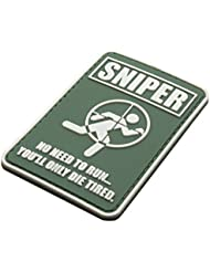 Sniper no necesita para ejecutar PVC Airsoft Velcro Patch