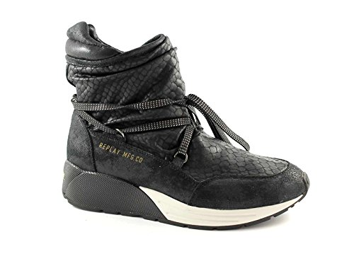 REPLAY RS360001S STARLAW nero stivaletti tronchetti donna sneakers mid 41