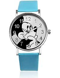 SJXIN Reloj Elegante Reloj Mickey Mouse de Moda para Mujer Reloj de Dibujos Animados para Estudiantes