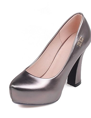 WSS 2016 Chaussures Femme-Bureau & Travail / Habillé / Soirée & Evénement-Noir / Rouge / Argent / Or-Gros Talon-Talons / A Plateau / Escarpin golden-us4-4.5 / eu34 / uk2-2.5 / cn33