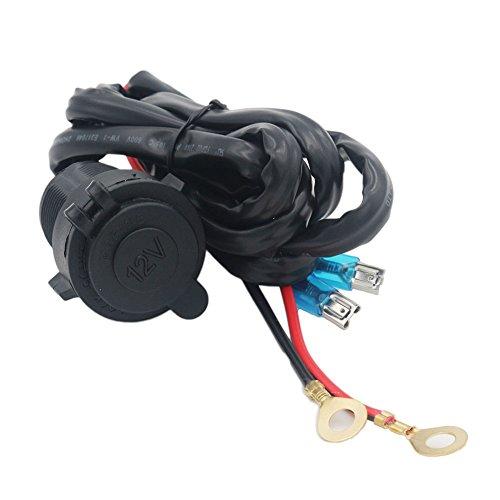 GDLPZM - Enchufe hembra para mechero de coche (12 V-24 V, impermeable, con cable de conexión de 1,5 m)