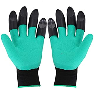 Homeme Garden Genie Gloves - Gardening Gloves With Claws for Digging & Planting - 2 pairs