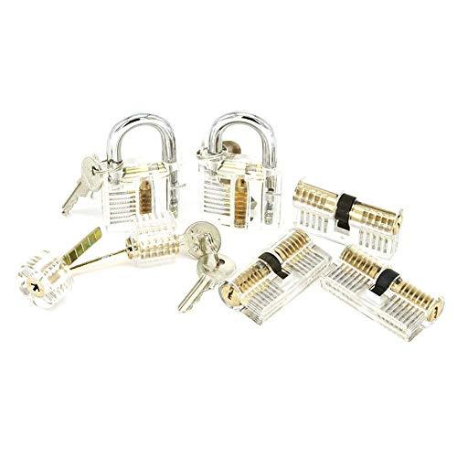 ValueHall Lockpicking Übungsschloss Set mit 7 Transparentem Trainingsschlössern Schloss für Anfänger und Profisrleicht V7030-1