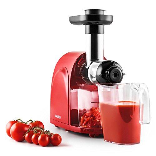 Klarstein Slowjuicer–Entsafter Slow Juicer für Saft von Fruit Gebühren (150W, 80U/min)–Rot