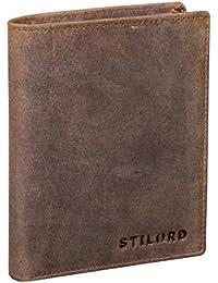STILORD 'Sawyer' RFID Cartera Hombre Piel Billetera Cuero Vintage Monedero Masculino para Tarjetas Monedas y Billetes de Auténtico Cuero